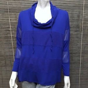 Cable & Gauge Tops - Cable & Gauge Blue stretchy knit top
